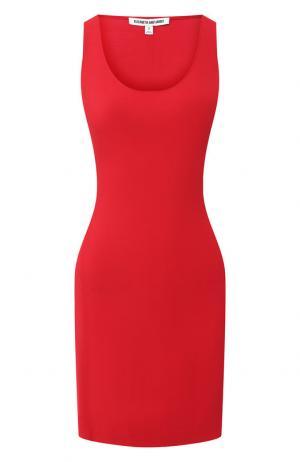 Однотонное мини-платье Elizabeth and James. Цвет: красный