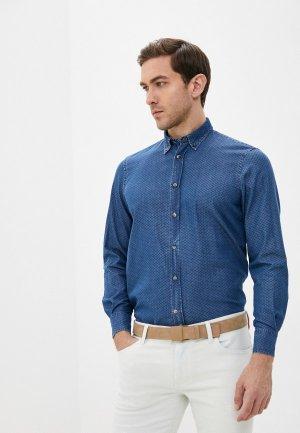 Рубашка джинсовая Harmont & Blaine. Цвет: синий