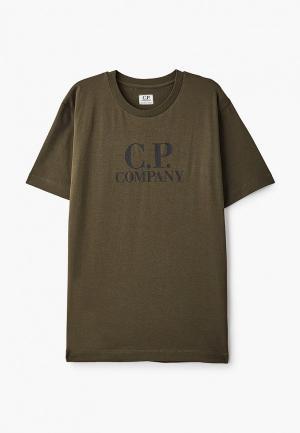 Футболка C.P. Company. Цвет: хаки