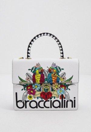 Сумка Braccialini. Цвет: белый
