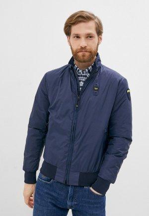 Куртка утепленная Blauer USA. Цвет: синий