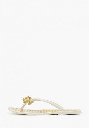 Сланцы Mon Ami. Цвет: белый