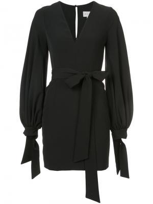 Платье с рукавами-фонариком Milly. Цвет: чёрный