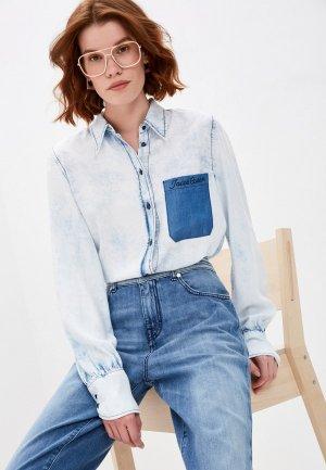 Рубашка джинсовая Jacob Cohen. Цвет: голубой