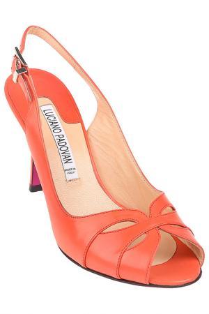 Босоножки Luciano Padovan. Цвет: оранжевый