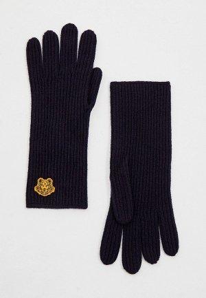 Перчатки Kenzo. Цвет: синий