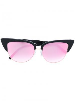 Солнцезащитные очки формы кошачий глаз Matthew Williamson. Цвет: чёрный