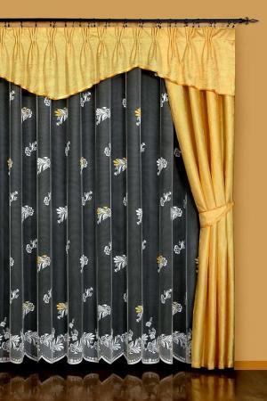 Комплект штор WISAN. Цвет: золотой