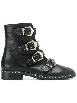 Ботинки с ремешками и заклепками Marc Ellis. Цвет: чёрный