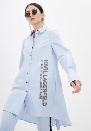 Туника Karl Lagerfeld. Цвет: голубой