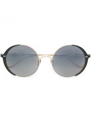Round-frame sunglasses Chrome Hearts. Цвет: чёрный
