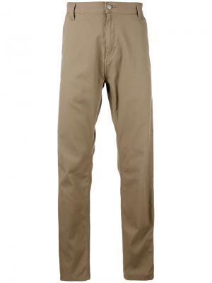 Прямые джинсы Carhartt. Цвет: телесный
