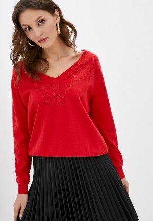 Пуловер Desigual. Цвет: красный