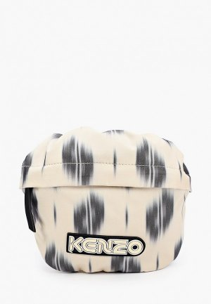 Сумка поясная Kenzo. Цвет: бежевый
