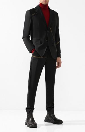 Шерстяной костюм с пиджаком на двух пуговицах Damir Doma. Цвет: черный