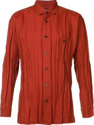 Плиссированная рубашка Issey Miyake Men. Цвет: красный