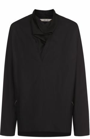 Хлопковая рубашка свободного кроя с воротником хомут Damir Doma. Цвет: черный