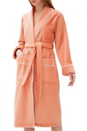 Халат махровый Luisa Moretti. Цвет: оранжевый