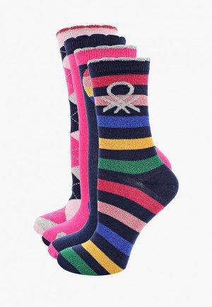 Носки 4 пары United Colors of Benetton. Цвет: разноцветный