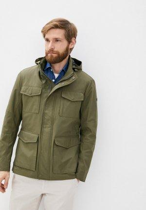 Куртка утепленная Hackett London. Цвет: хаки