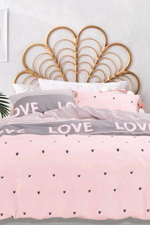 Постельное белье дуэт 50х50 Jardin. Цвет: розовый