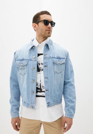 Куртка джинсовая Bikkembergs. Цвет: голубой