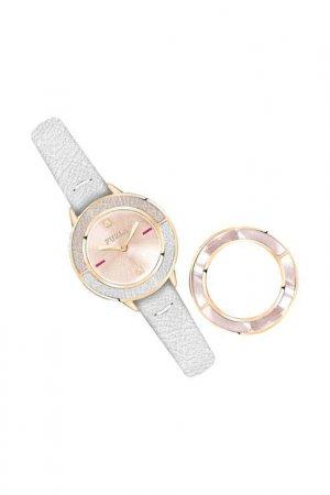 Наручные часы, сменный безель FURLA. Цвет: серебристый