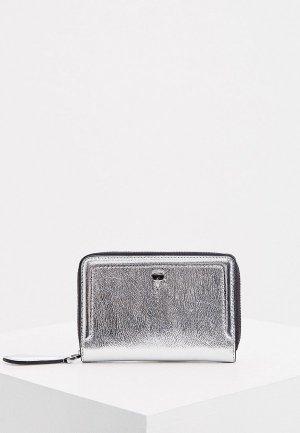 Кошелек Karl Lagerfeld. Цвет: серебряный