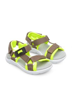 Туфли летние открытые CAMPER. Цвет: мультиколор