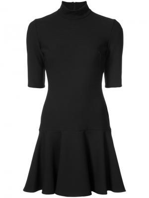 Мини-платье с баской Black Halo. Цвет: чёрный