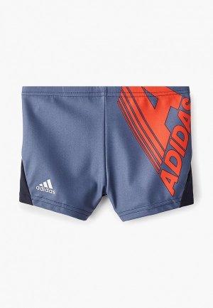 Плавки adidas. Цвет: синий