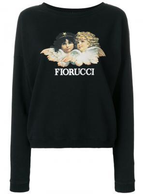 Толстовка с принтом логотипа Fiorucci. Цвет: чёрный