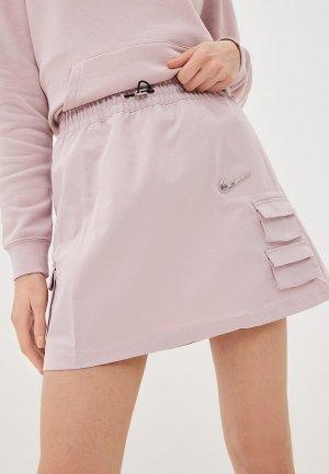 Юбка Nike. Цвет: розовый