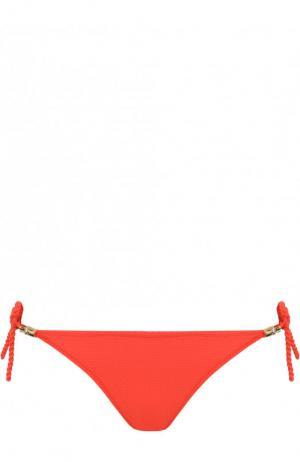 Однотонные плавки-бикини с бантами Heidi Klein. Цвет: красный