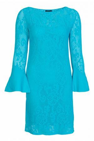 Платье LUISA SPAGNOLI. Цвет: бирюзовый
