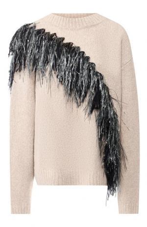 Пуловер из смеси шерсти и кашемира Dries Van Noten. Цвет: кремовый