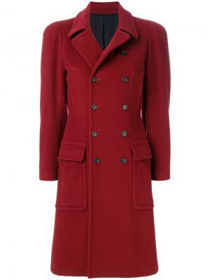 Двубортное пальто Jean Paul Gaultier Vintage. Цвет: красный