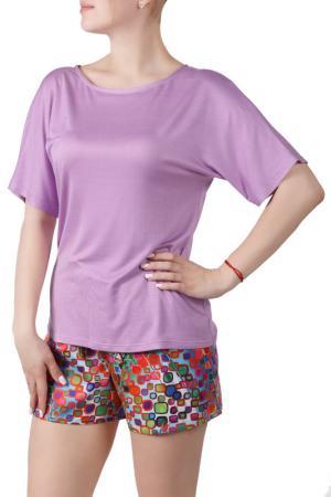 Пижамный комплект Sonett. Цвет: лиловый