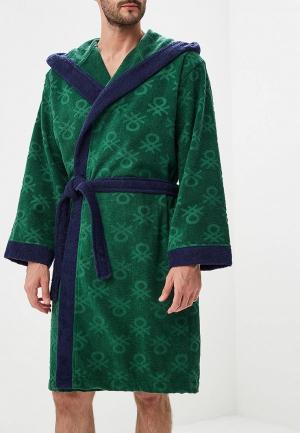 Халат домашний United Colors of Benetton. Цвет: зеленый