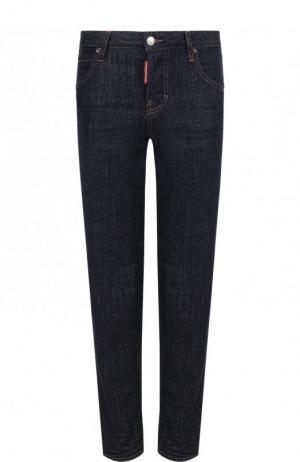 Укороченные джинсы прямого кроя Dsquared2. Цвет: темно-синий