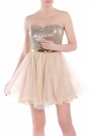 Платье Fervente. Цвет: золотой