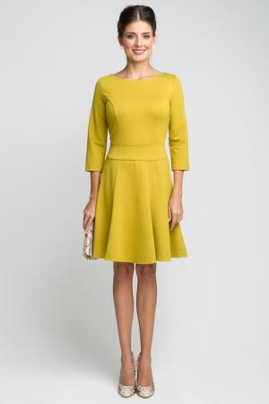 Платье LA VIDA RICA. Цвет: горчичный
