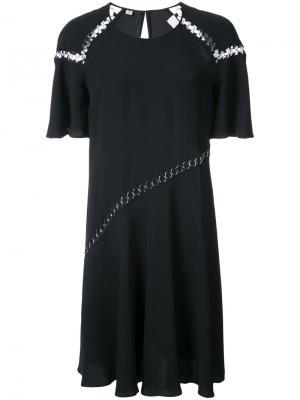 Повседневное платье с декором из металлических колец A.L.C.. Цвет: синий