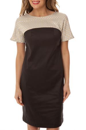 Платье Gloss. Цвет: черно-серый