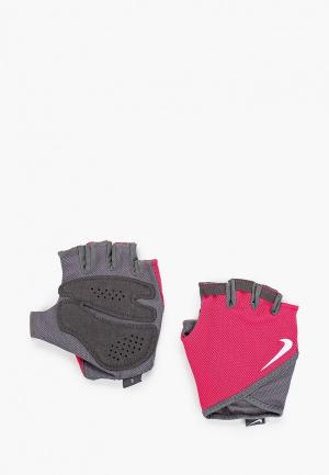 Перчатки для фитнеса Nike. Цвет: розовый