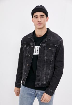 Куртка джинсовая Mustang. Цвет: черный