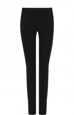 Однотонные брюки-скинни Roque. Цвет: черный