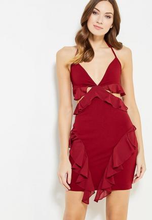 Платье Naanaa. Цвет: бордовый
