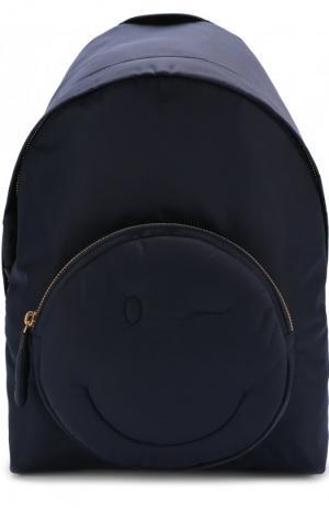 Рюкзак Chubby Wink Anya Hindmarch. Цвет: темно-синий