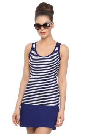 Комплект пляжный - майка, юбка CHARMANTE. Цвет: синий